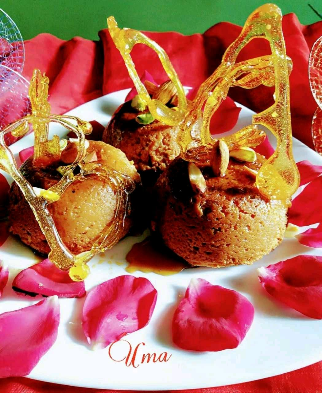 BAKED NOLEN GURER BHAPA SANDESH