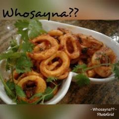 Whosayna's Calamari Fried