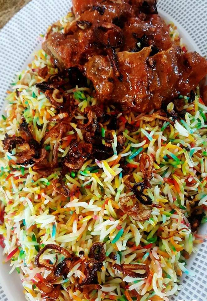 Satrangi Mutton/Chicken Biryani