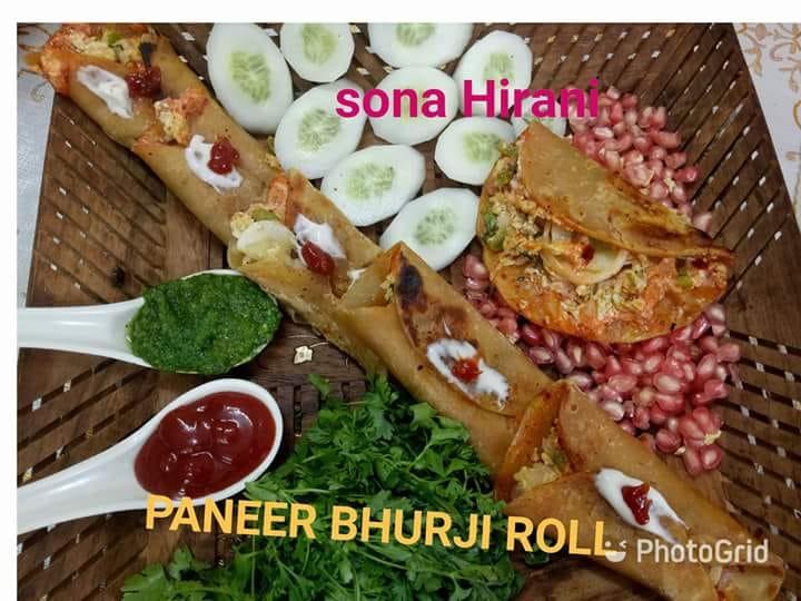 paneer bhurji roll