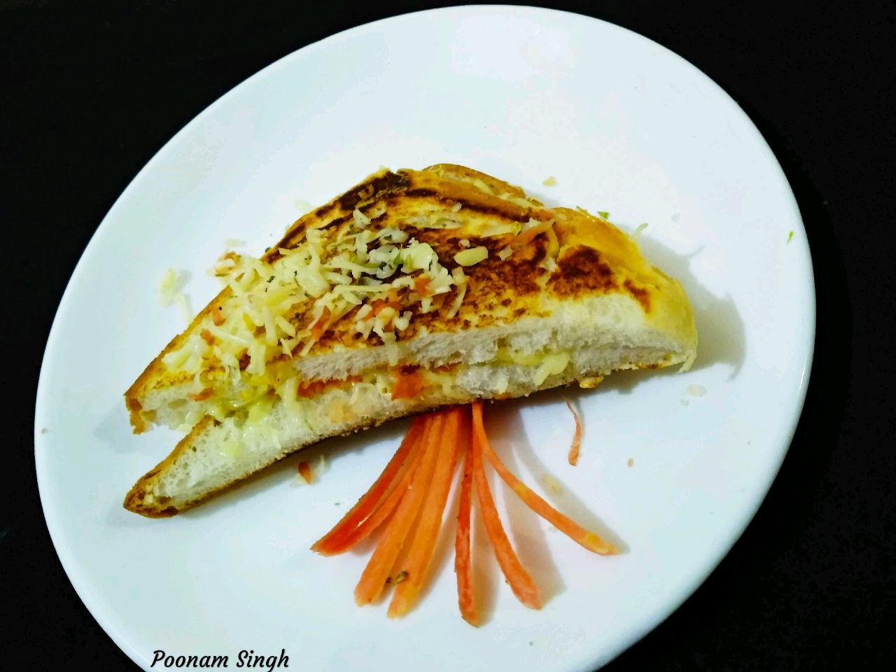 Cheese Carrot Sandwich