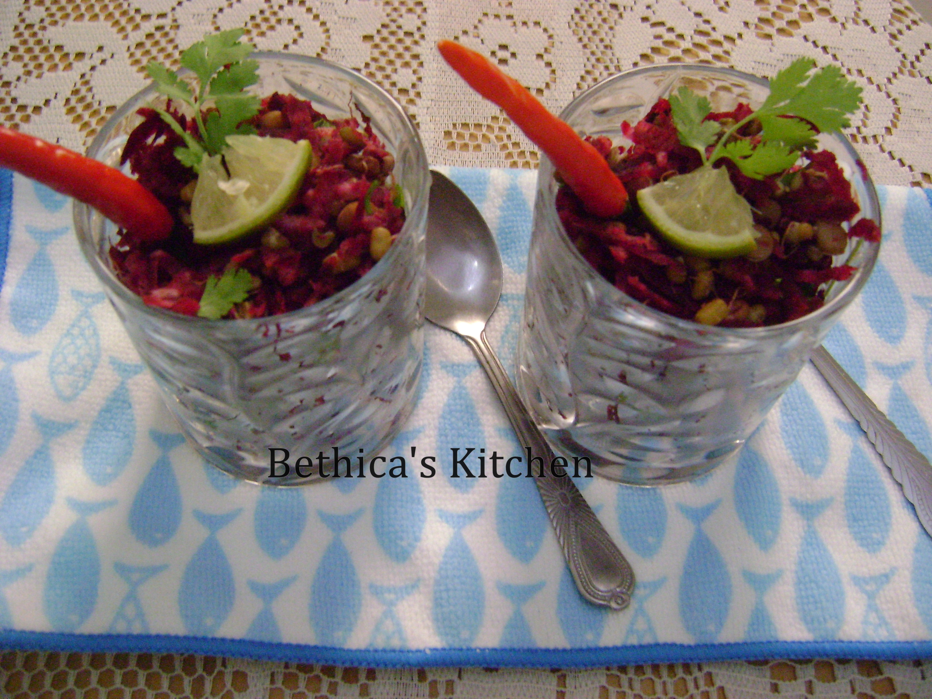 Beetroot & Sprouts Salad