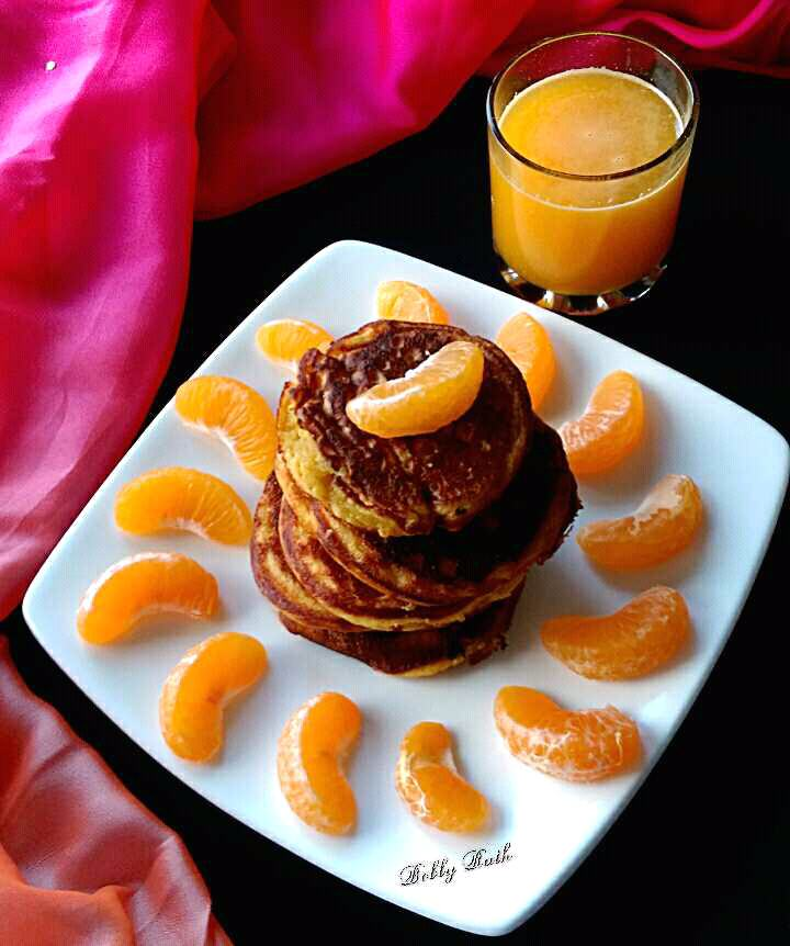 Cottage Cheese Orange Pancake