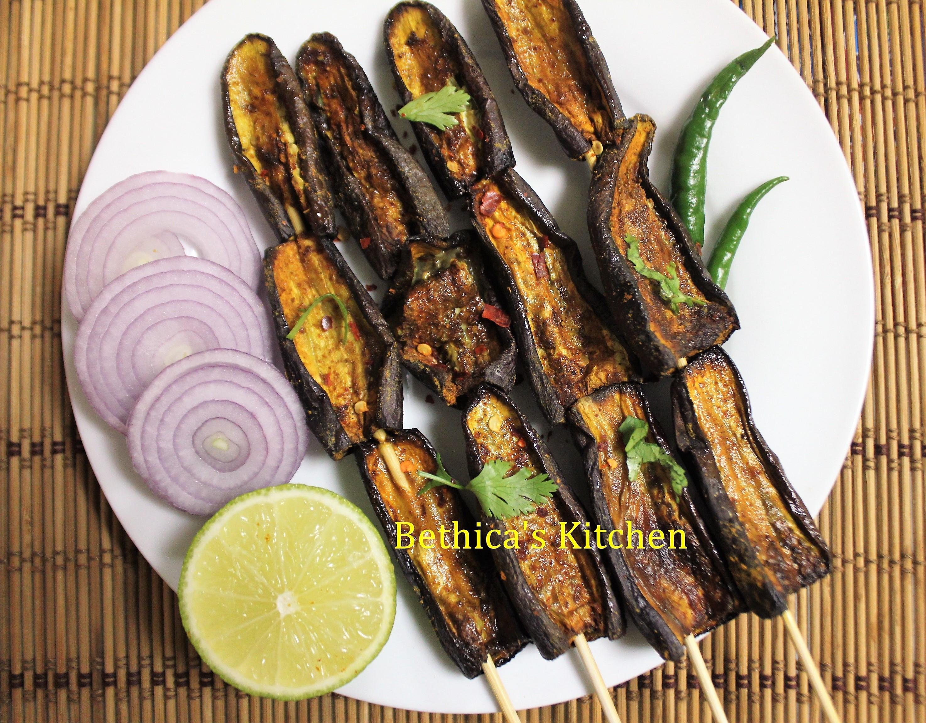 Grilled Chili Garlic Eggplants