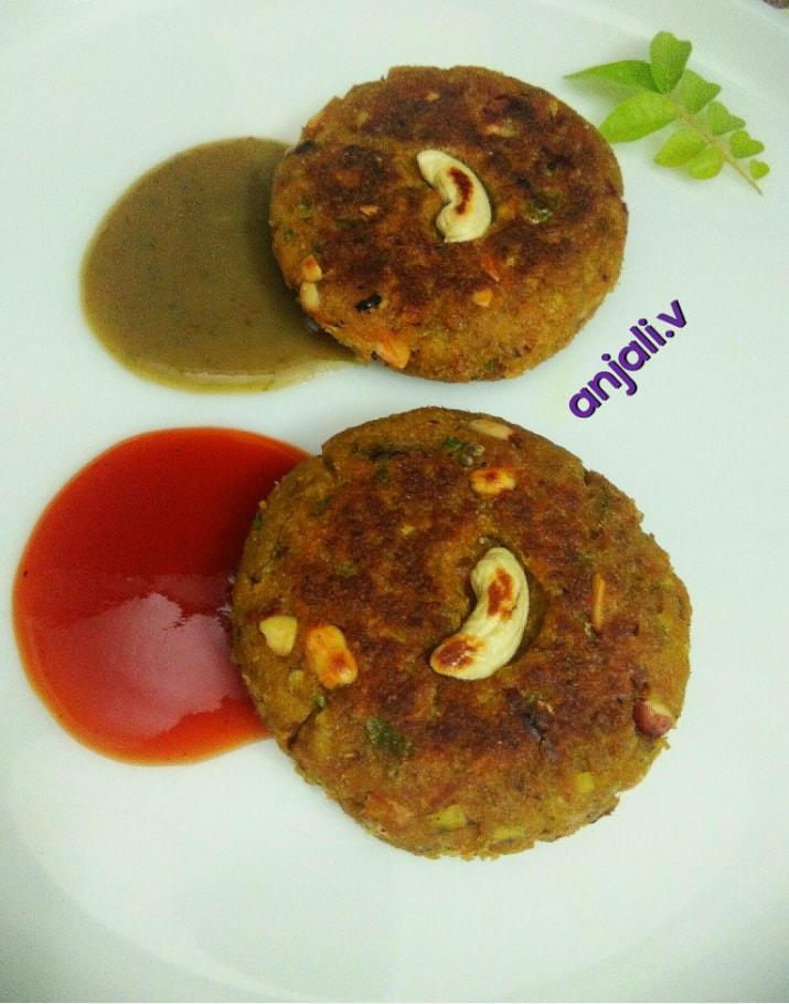 Peanut Soya Chapli Kebab