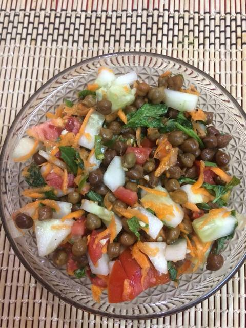 Brown Chana salad high protein recipe
