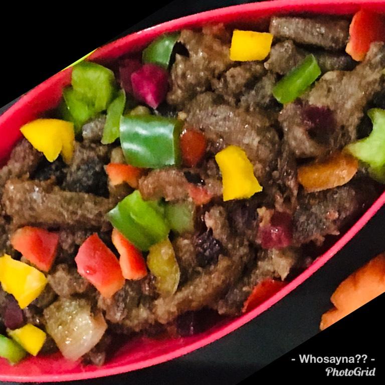 Whosayna's Beef Chilli Dry