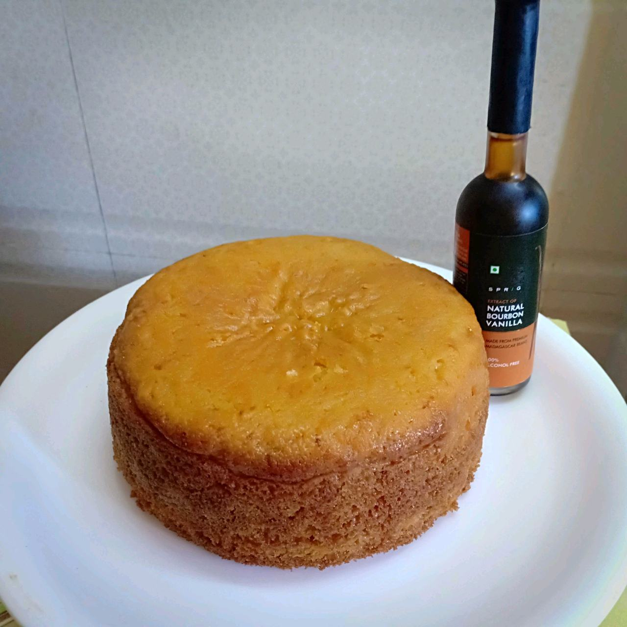 Eggless Sponge Cake Without Oven