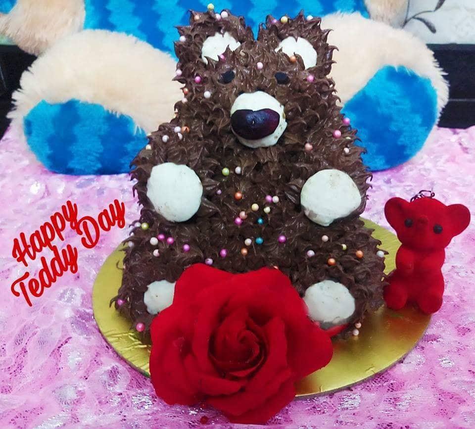 टेड्डी बियर चॉकलेट केक(Teddy bear chocolate cake)