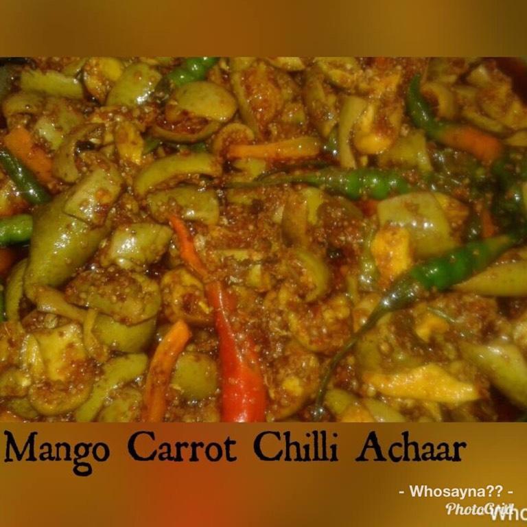 Whosayna's Mango Carrot Chilli Achaar