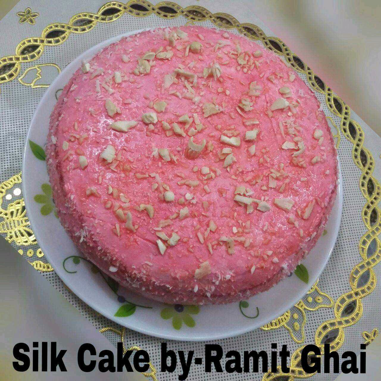 SilkCake .....About SilkCake ( silk chocolate used)  It's a cake with a good source of dessert for vegetarians