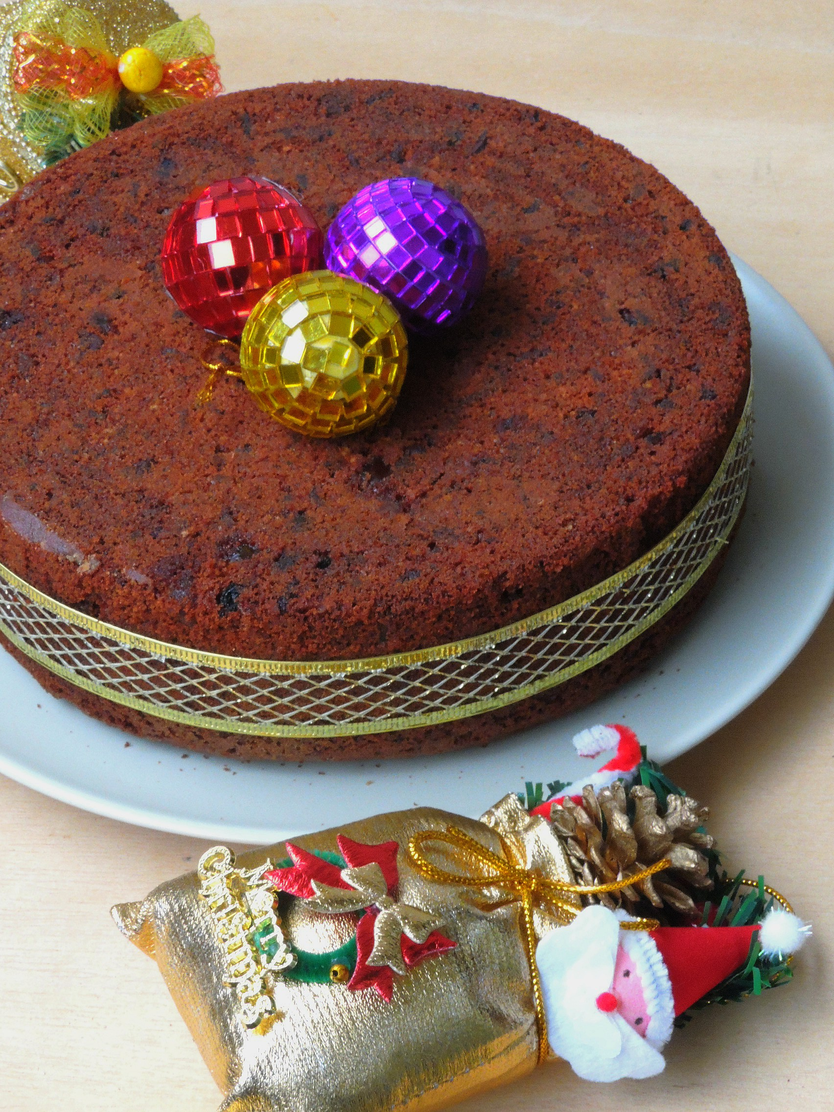 No Maida, No Sugar, No Butter Christmas Fruit Cake