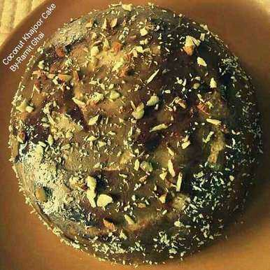 Coconut Khajoor Cake (About Coconut Khajoor cake Recipe  It's a very healthy cake...must try out..may be of your choice...now a days innovation is must).