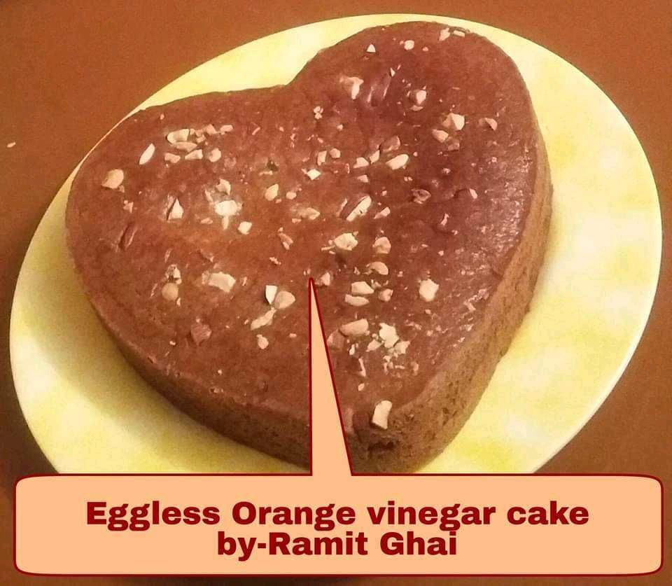 Eggless Orange Cake (It's a Cake Made With Vinegar)
