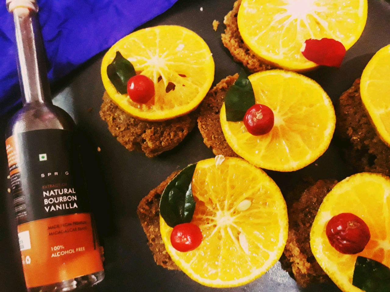 Orange Chocolate Semolina Brownies