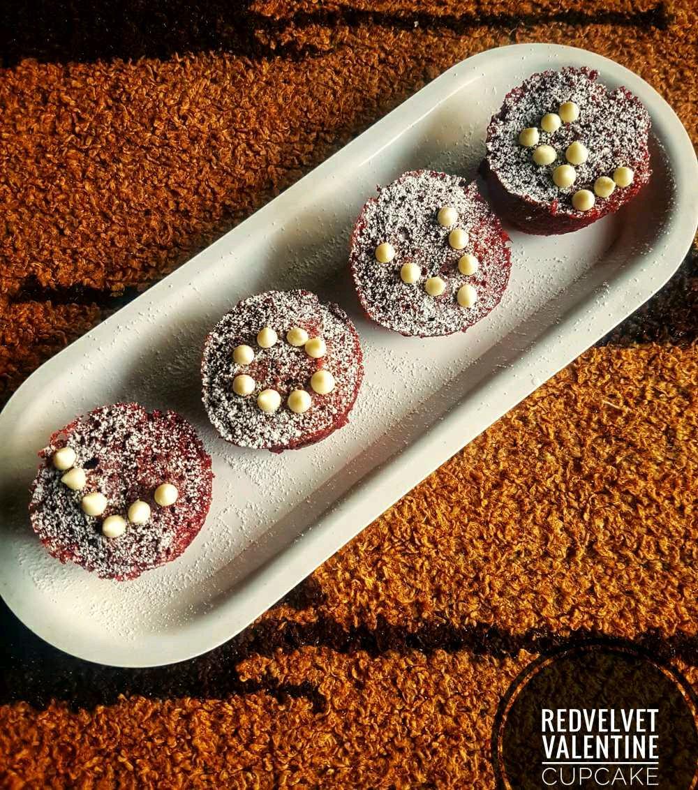 Red Velvet Valentine's Cupcake