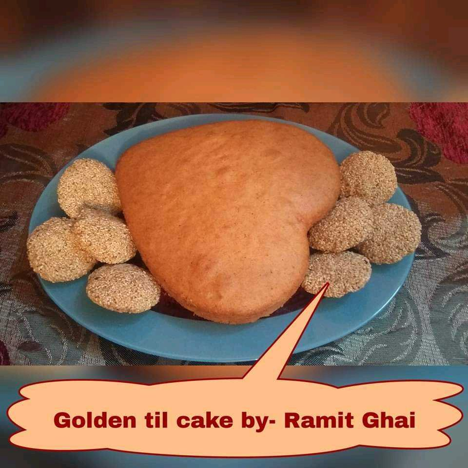 Til Cake (A Cake Made With Gulukand Chikki)