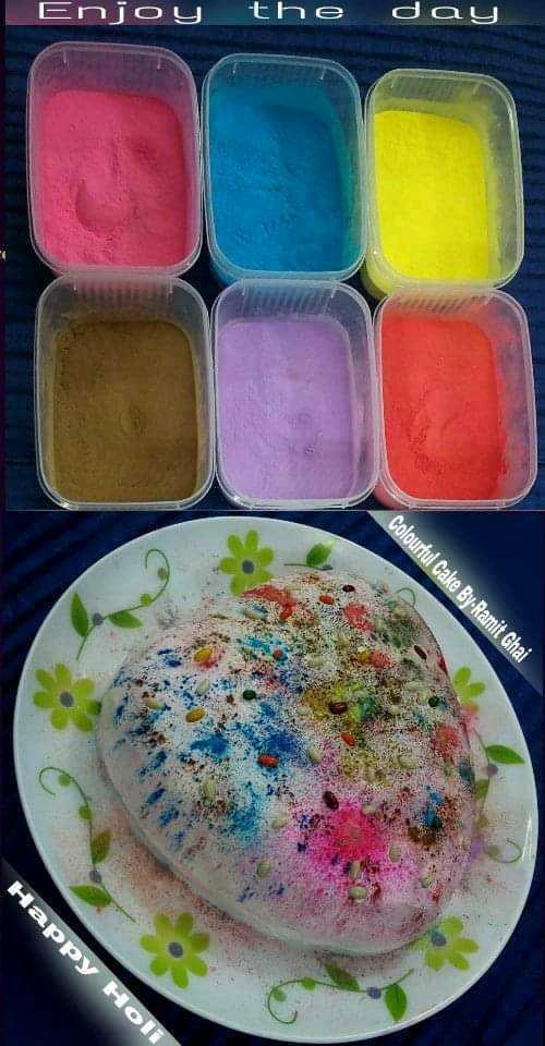 Colourful Holi Cake