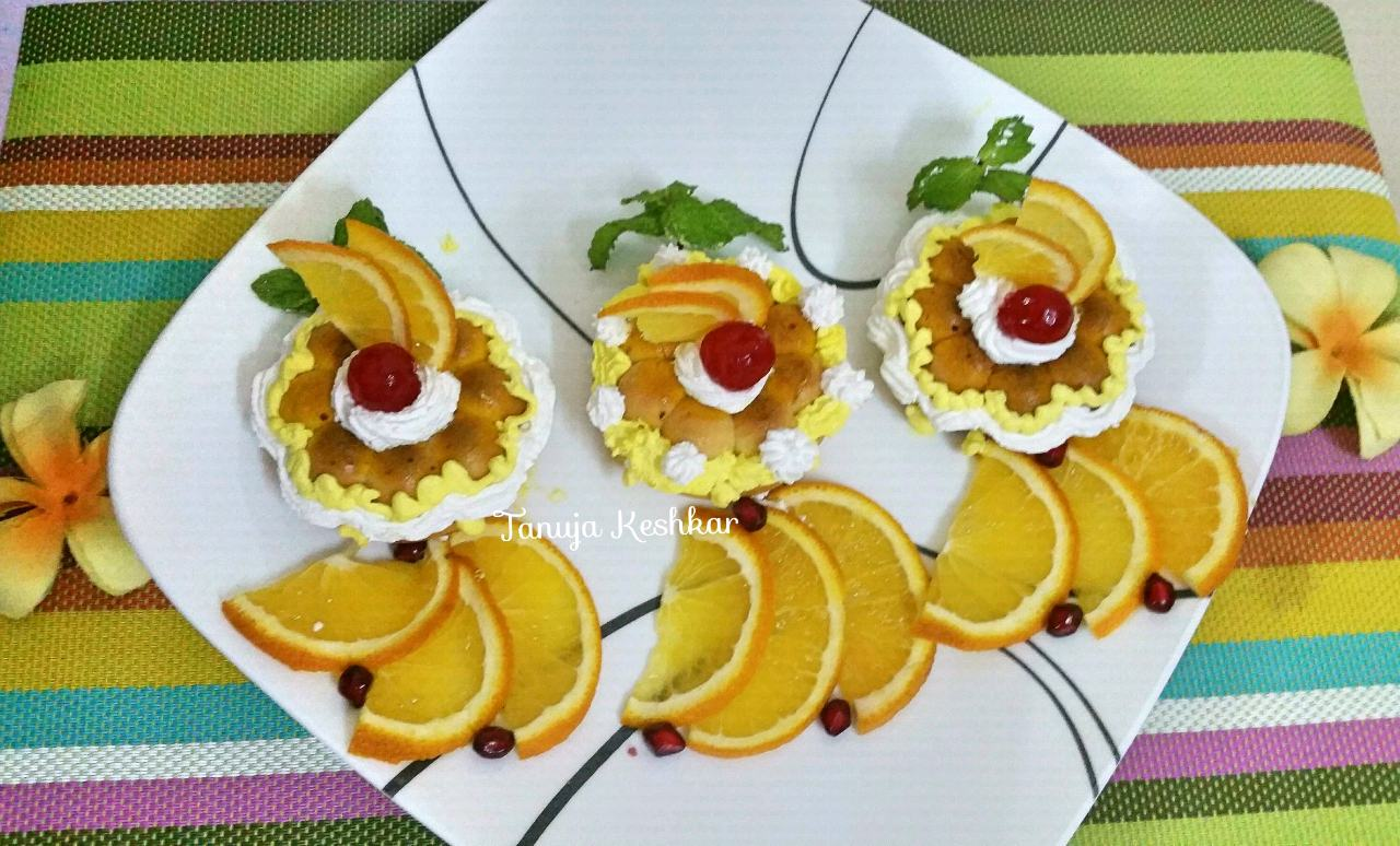 Orange Oat Semolina Cupcakes