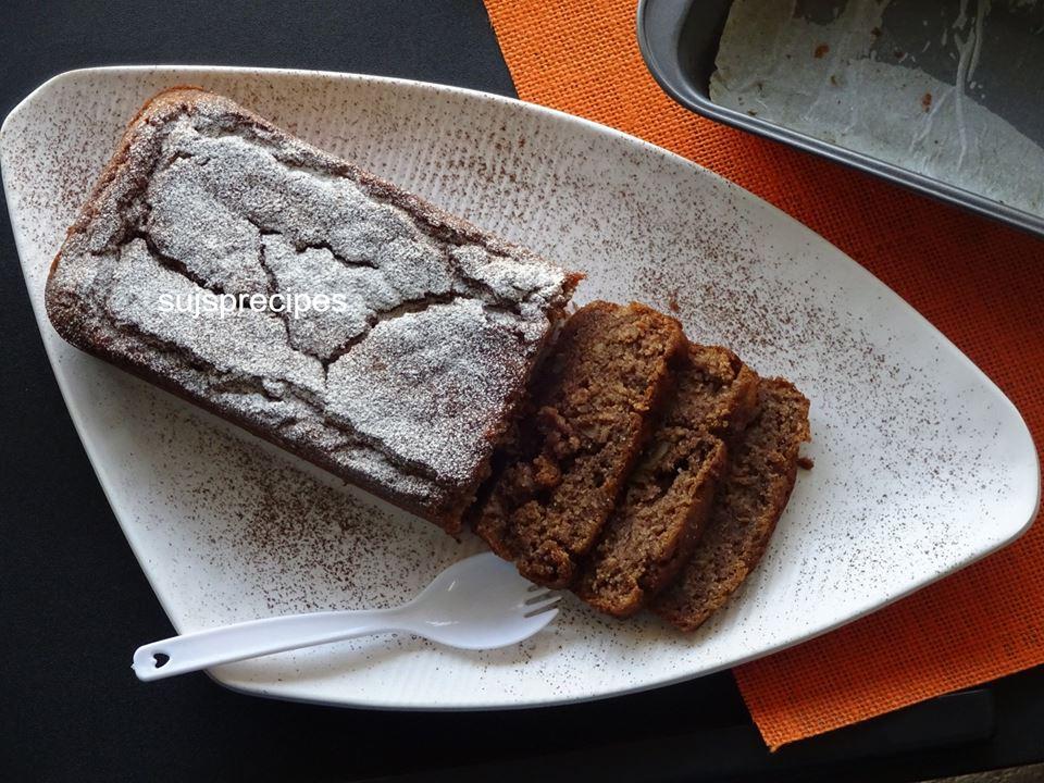 Eggless Banana Finger Millet Cake
