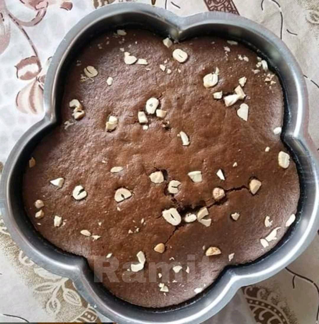 Chocolate Coffee Almond Cake