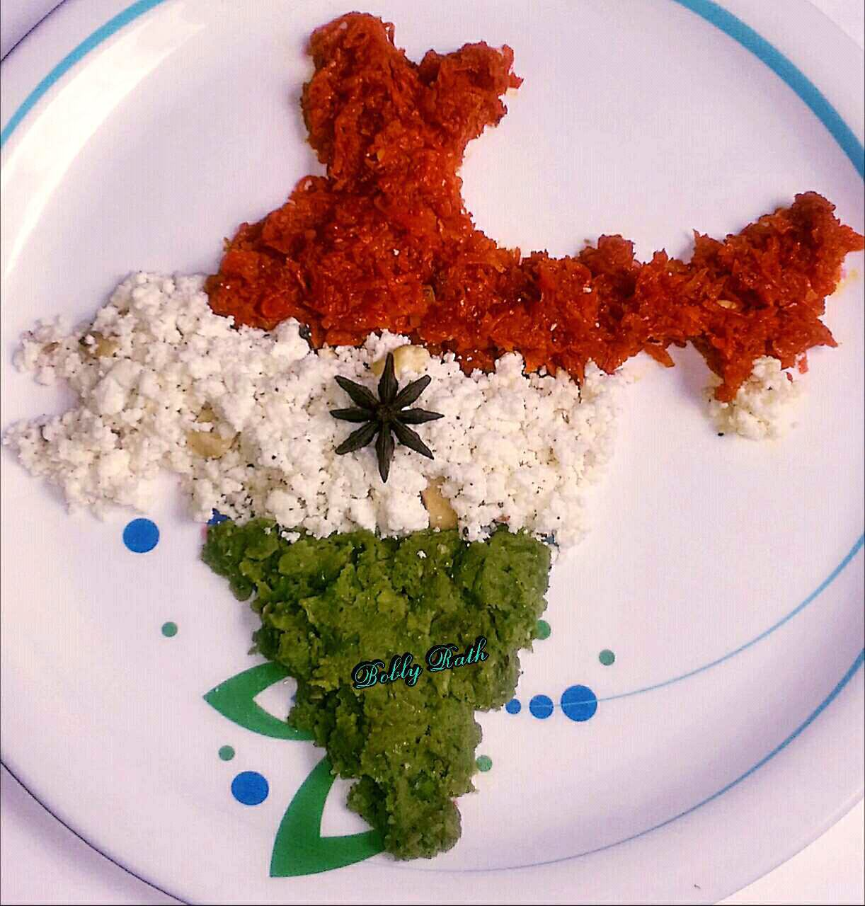 Tricolor Halwa ( Carrot,paneer and green peas)