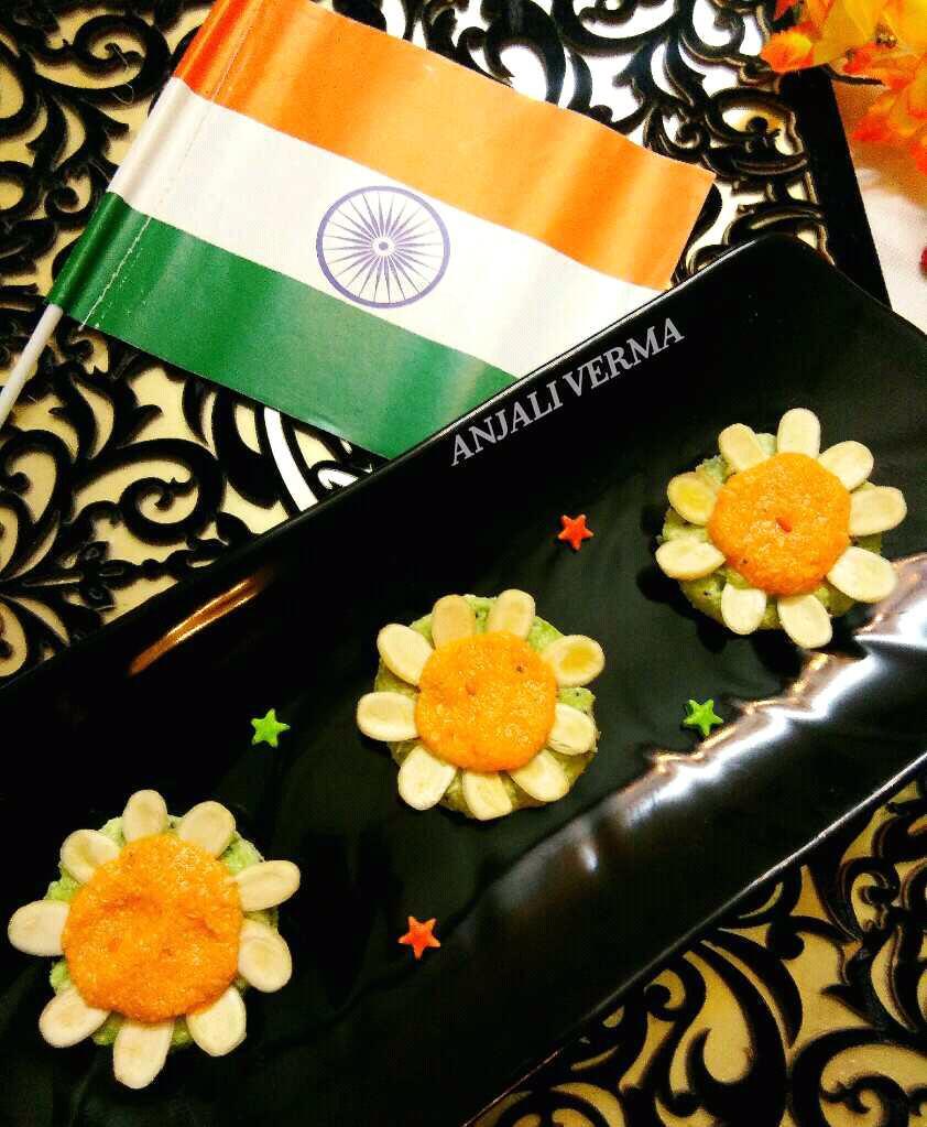 Kiwi-Orange Lotus Sandesh(Tri-colour Lotus)