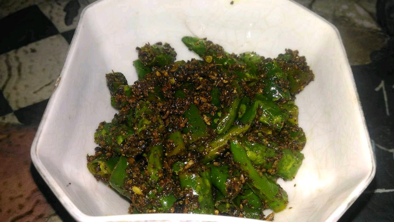 Instant Green Chilly Pickle