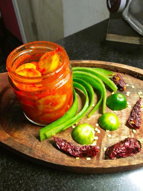 Zucchini  Pickle In 5 Minutes