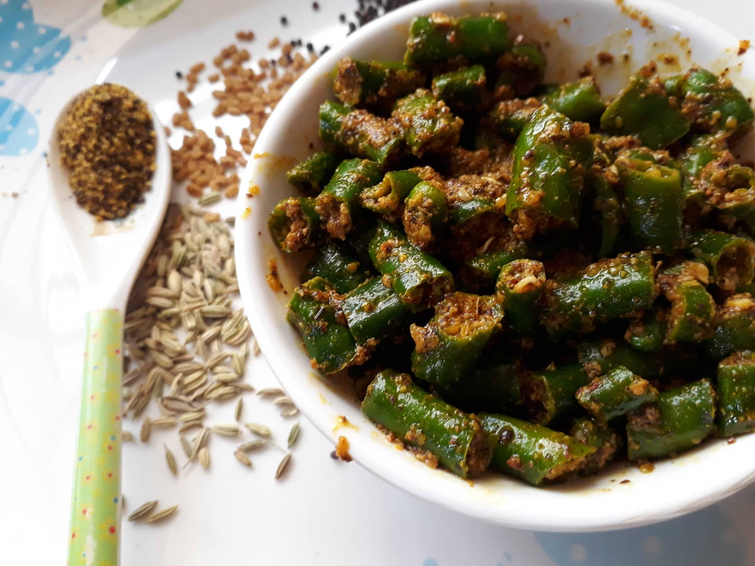 Instant Mustard Green Chillies Pickle