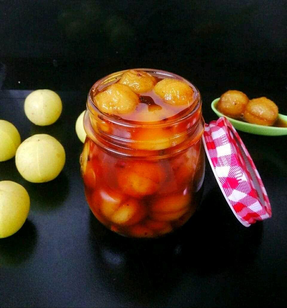 Amla Gur Murabba ( Gooseberry Jaggery Murabba)