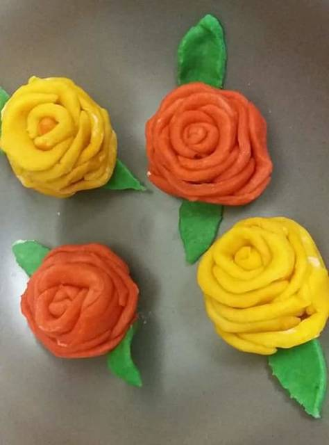 Sweet Sesame Rose Pitha