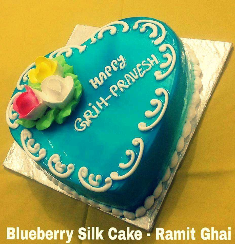 Blueberry Silkcake (Made By Me On The Occasion Of My Friends Grih Pravesh Party)