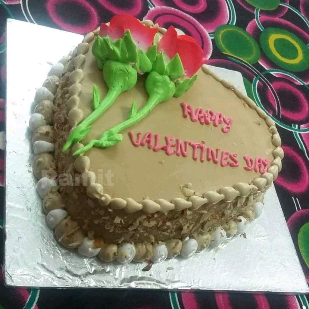 Valentine's Day Chocolate Cream Cake