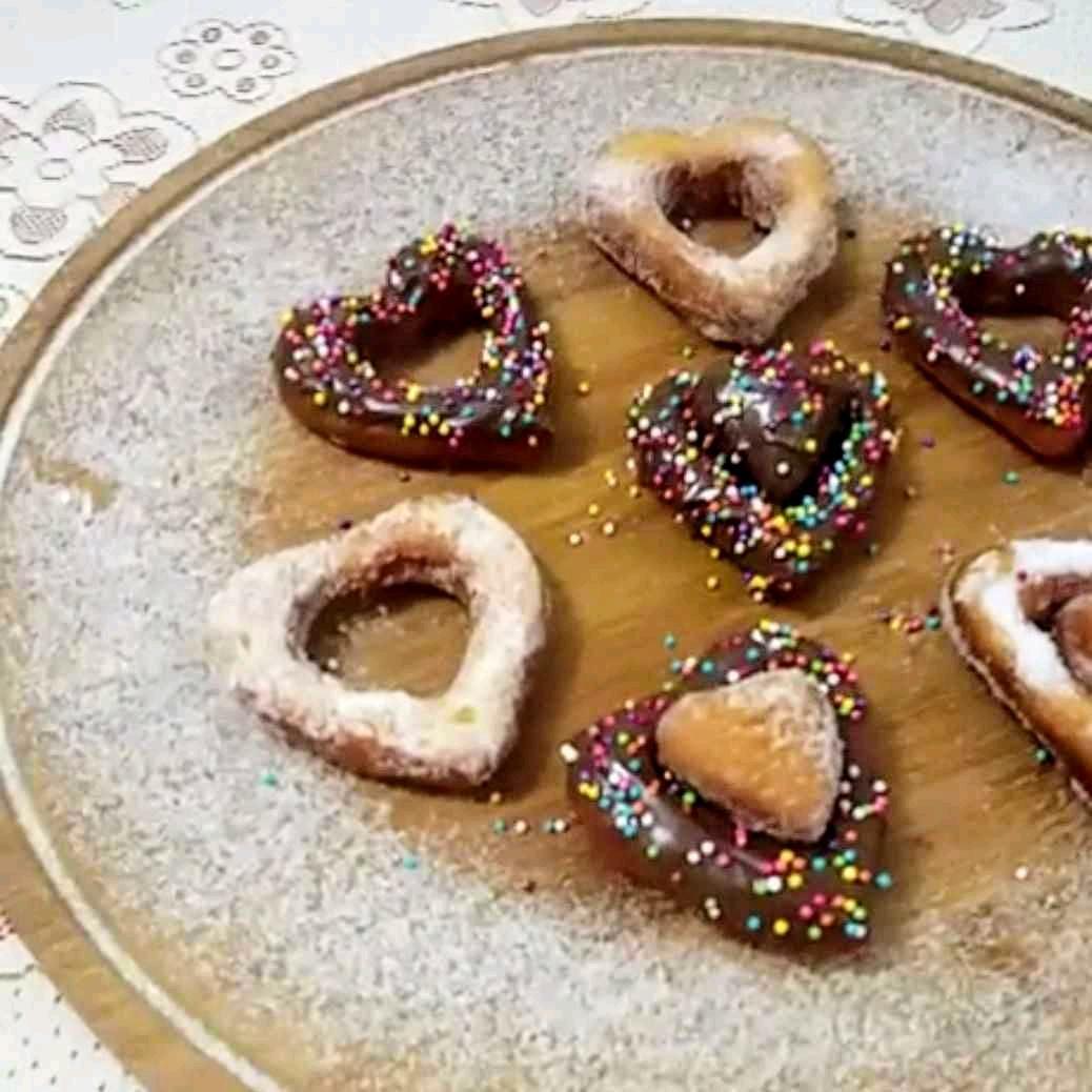 Valentine's Nutella Doughnuts