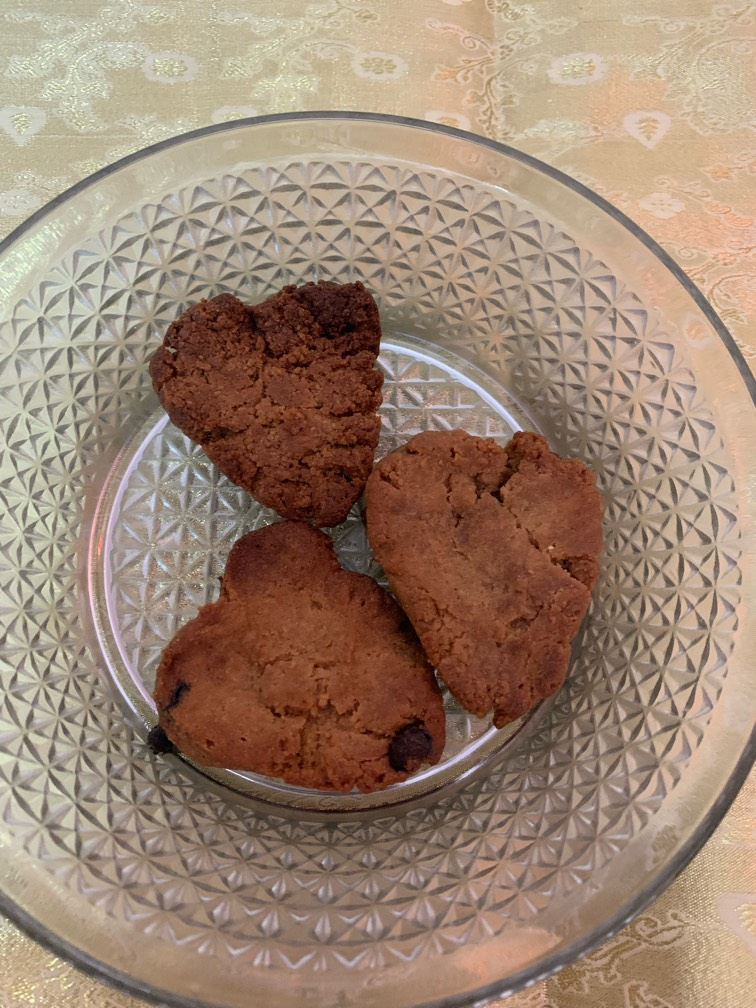 Ragjira/ Amarnath flour chocolate chip cookies