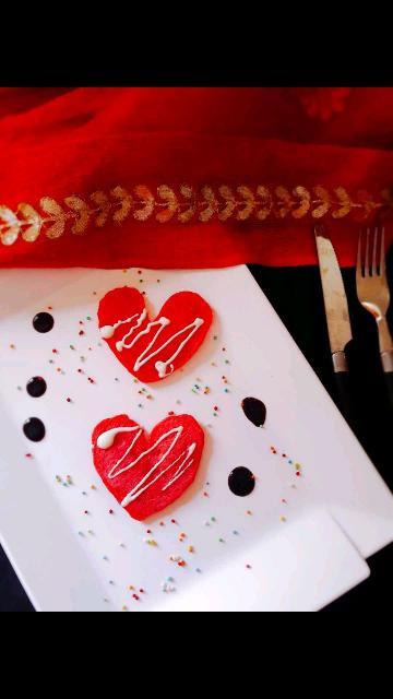 Valentine's  Heart Pancakes