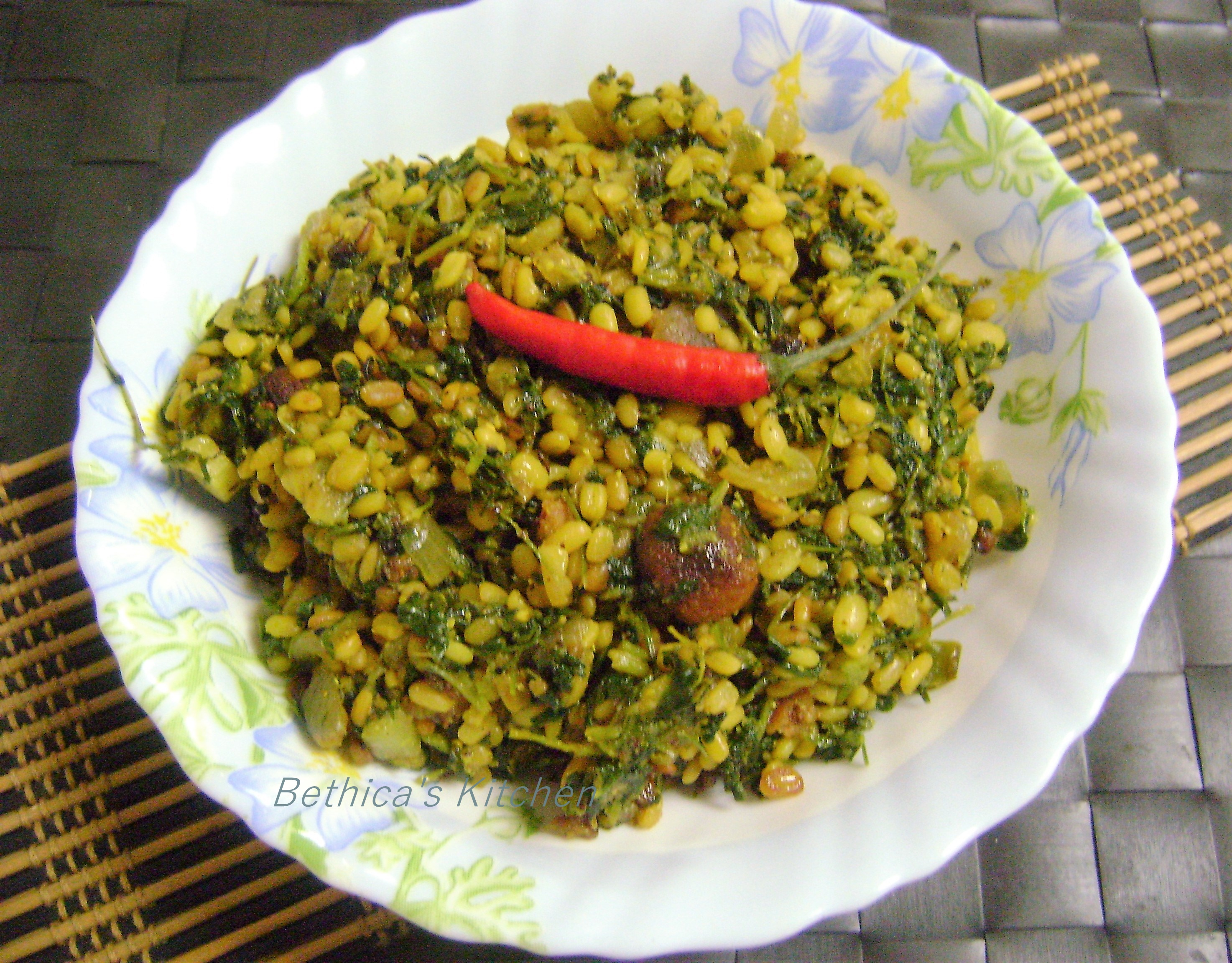 Methi Moong Dal Stir Fry