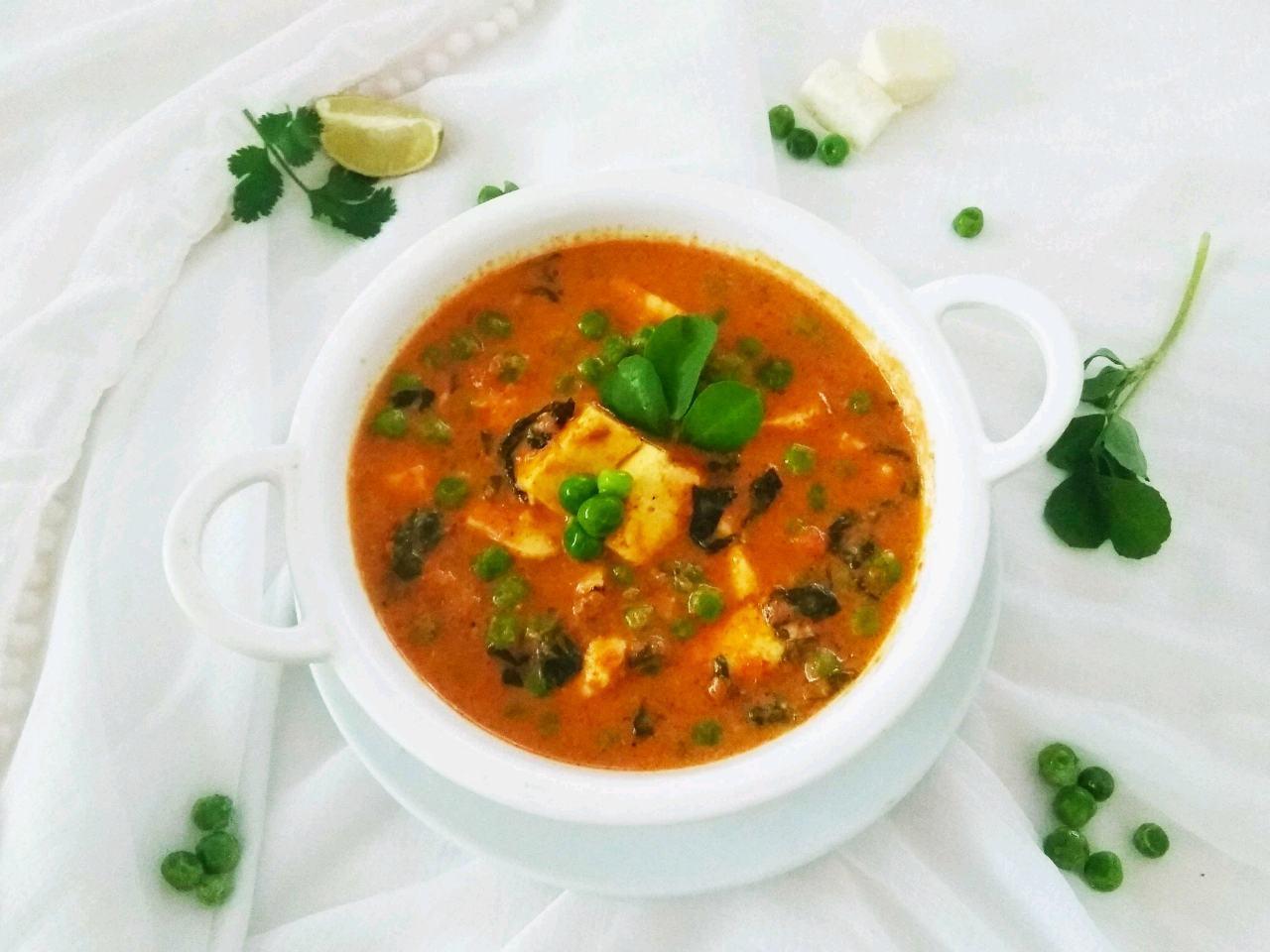 Methi Matar Paneer Curry