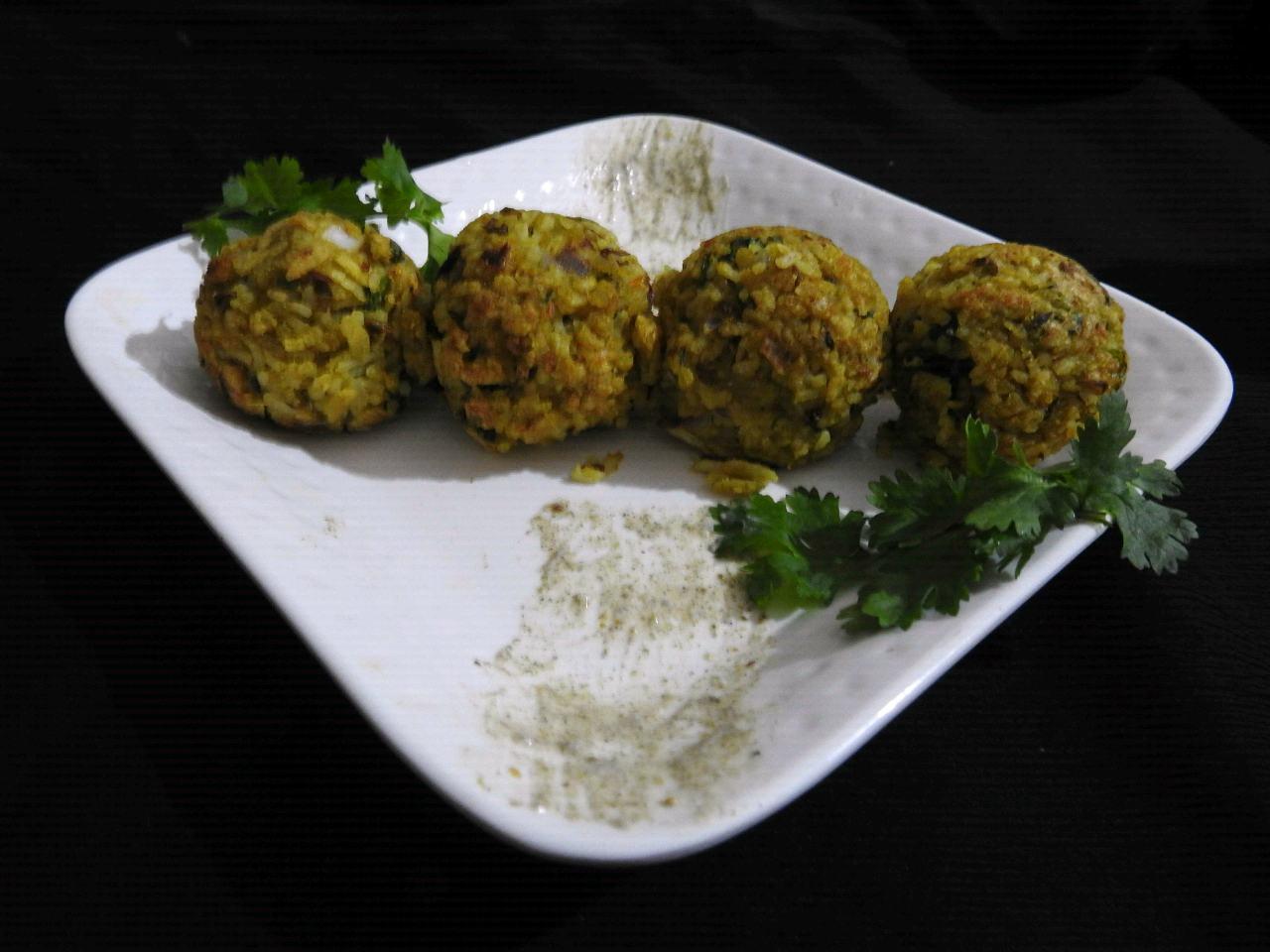 Masoor Dal-Rice Ladoo