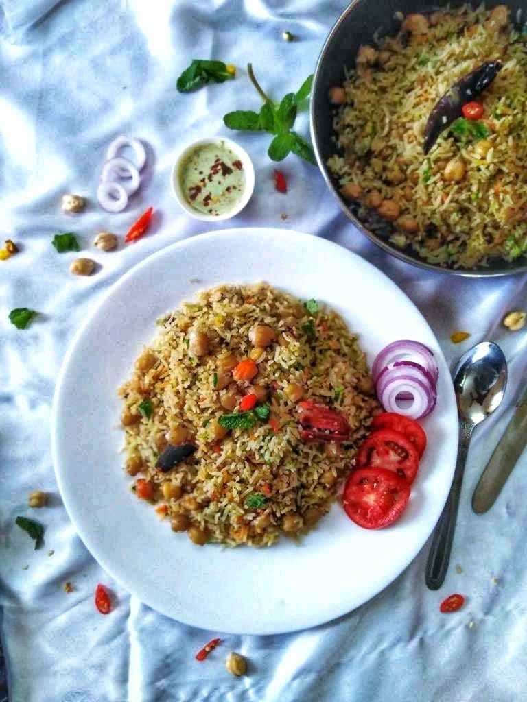 Chickpea And Rice Pilaf