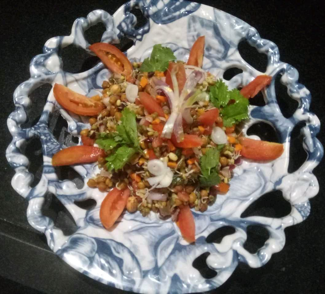 Protein Enriched Mix Sprouts & Veg Salad