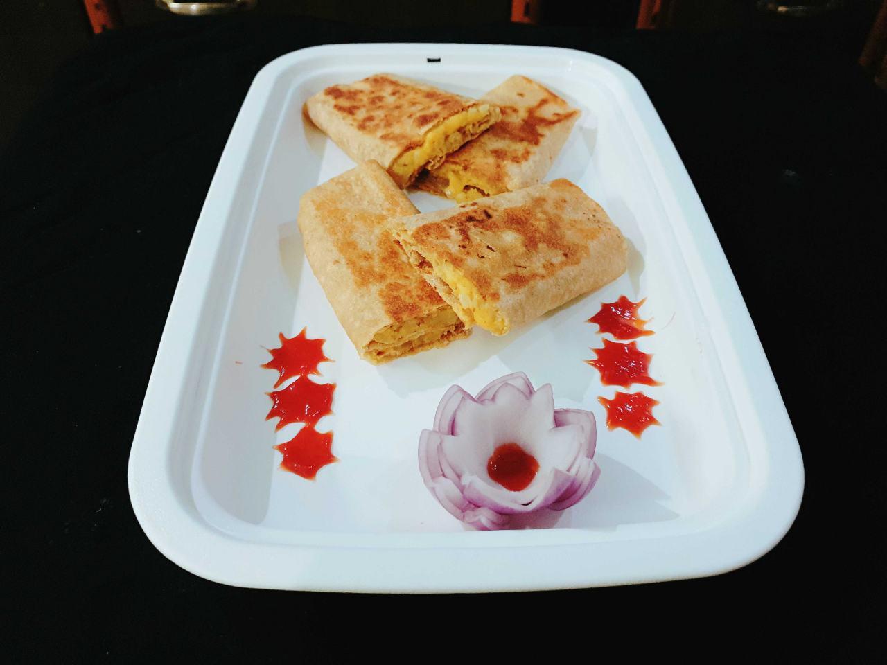 Leftover Chapati Aloo Wrap