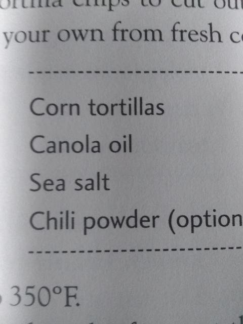 Vegan tortilla chips