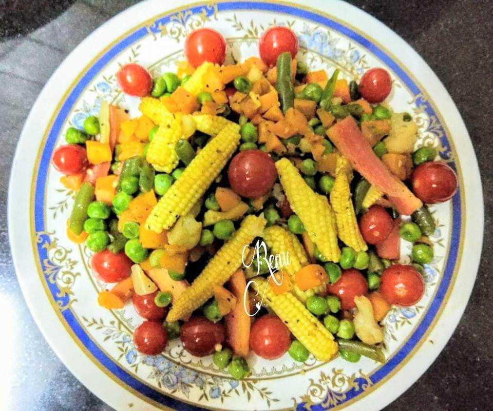 Crunchy Veg Salad With Italian Seasoning