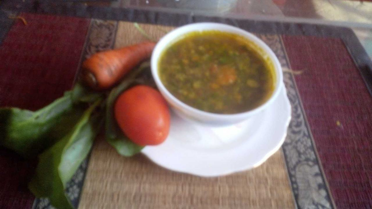 Spinach And Cabbage Soup
