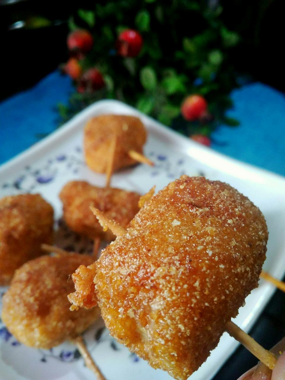 Cheese Chicken fritters