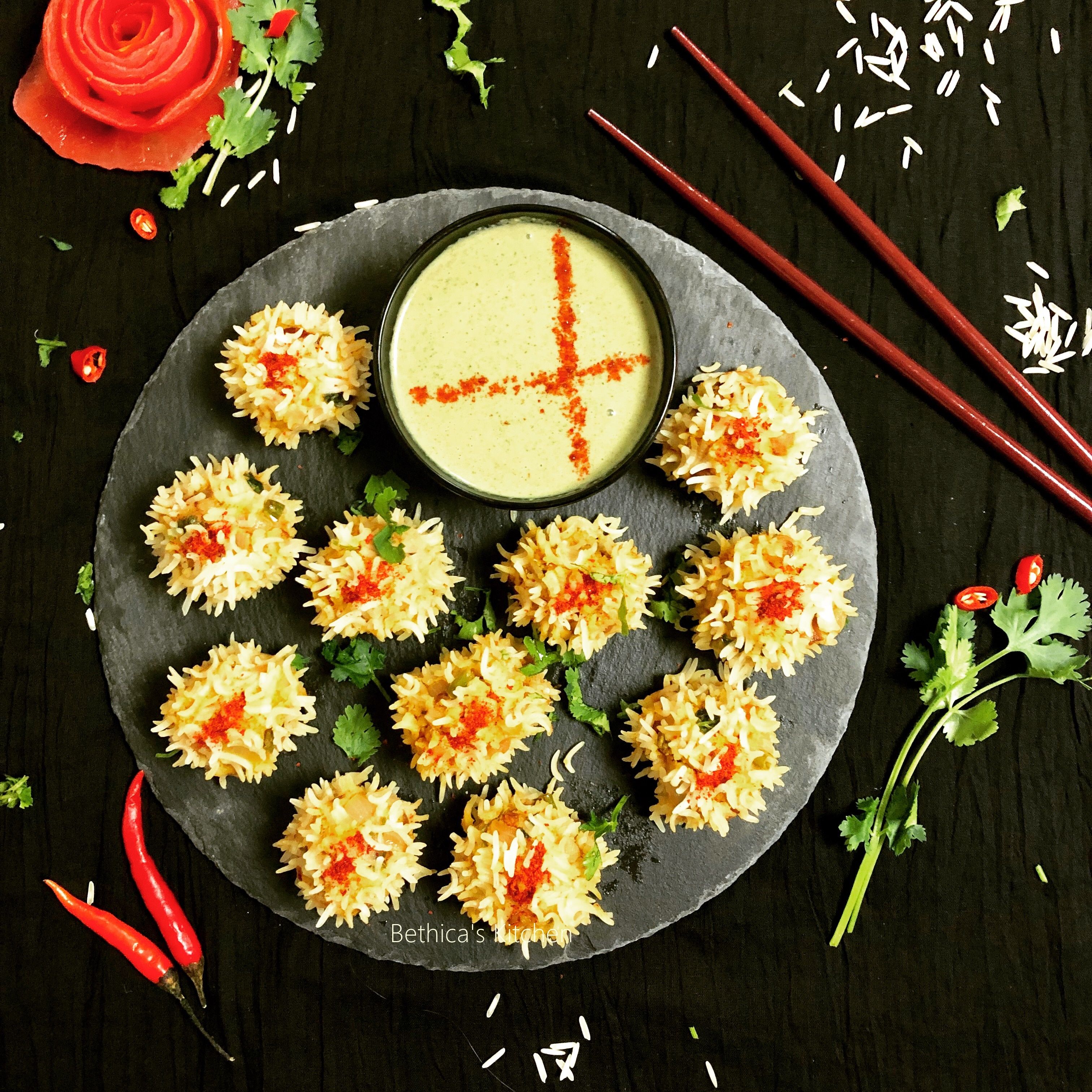 Veg. Flower Dumplings