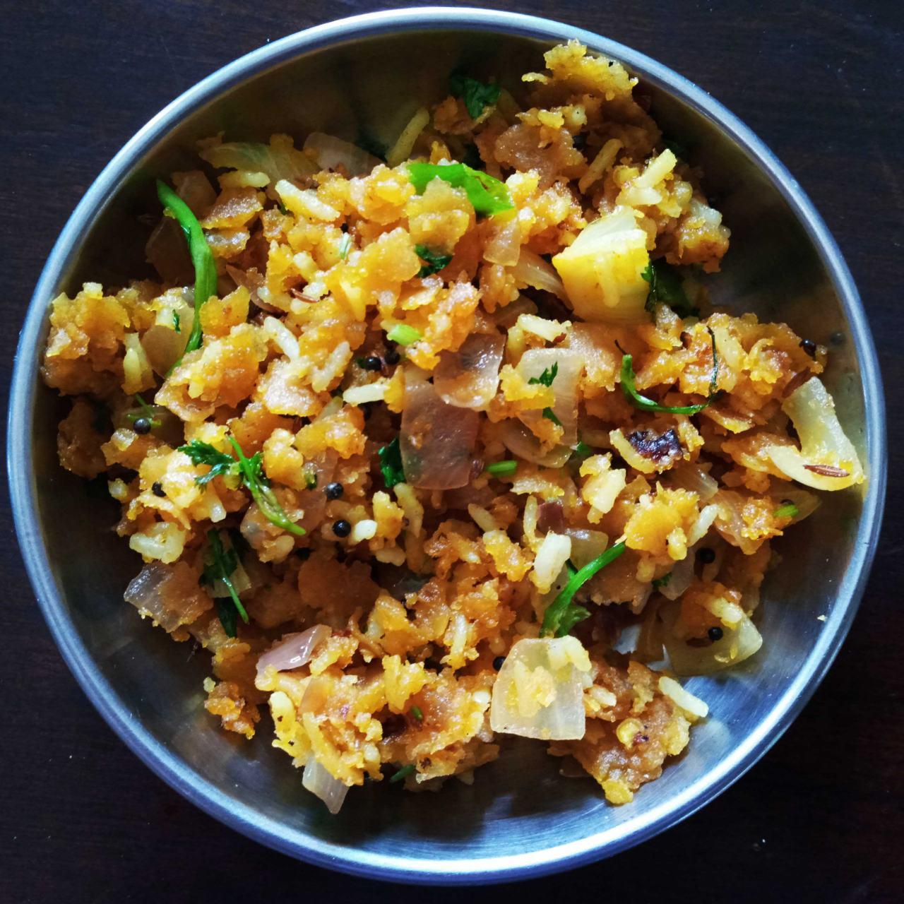 Roti Chawal Ka Chiwda