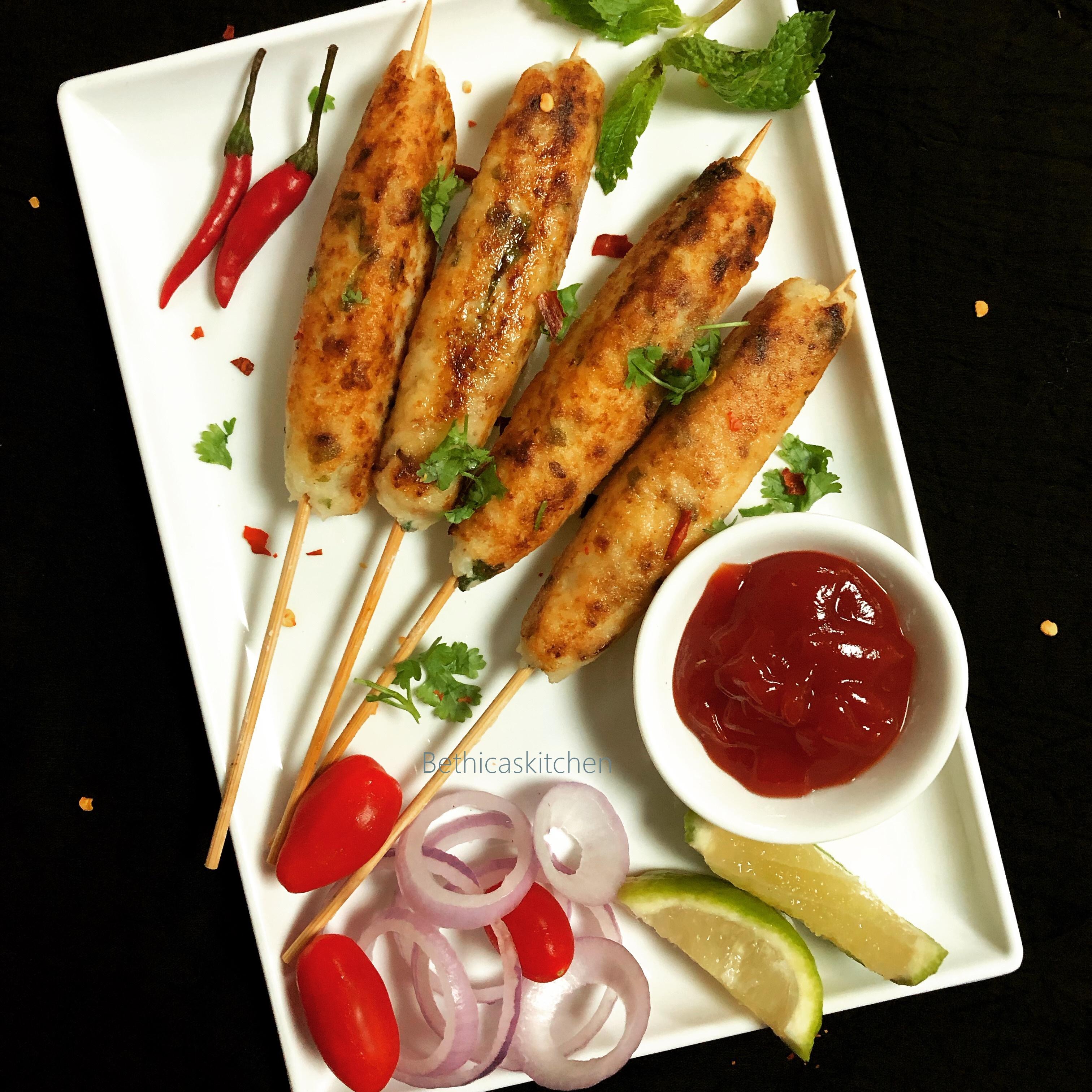 Curd Rice Seekh Kebabs